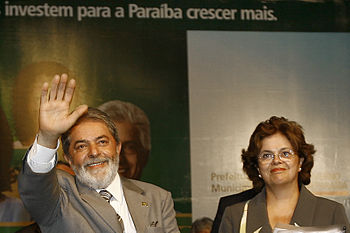 English: President Lula and Dilma Rousseff in ...