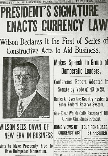 Description: Newspaper clipping USA, Woodrow W...