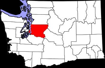 Map of Washington highlighting King County