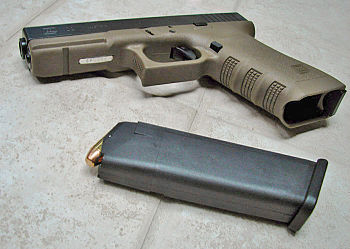 Glock model 22 (.40 S&W) in the new olive drab...