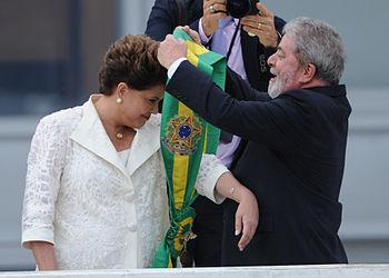 Português: A presidenta Dilma Rousseff recebe ...