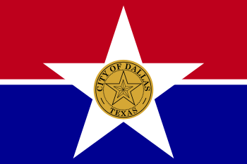 English: Flag of Dallas, Texas Esperanto: Flag...