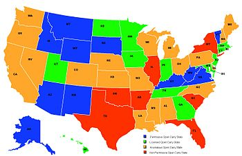 Map of USA states as regards their status for ...