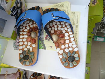 Pebble massage sandals from Dalian, China.