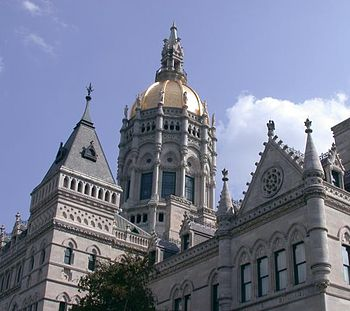 The Connecticut State Capitol in downtown Hartford