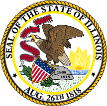 Seal of Illinois. Center image extracted from ...