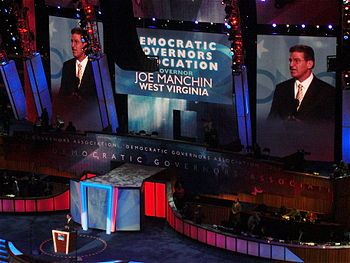 English: Joe Manchin speaks during the second ...