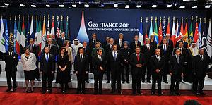 Español: Foto de familia de líderes del G20 en...