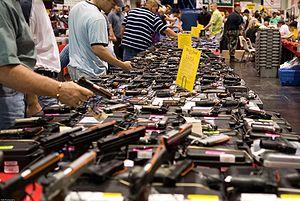 English: Houston Gun show at the George R. Bro...