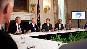 President Barack Obama meet with Cabinet offic...