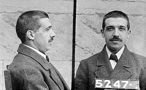 Mug shot of Charles Ponzi (March 3, 1882 – Jan...