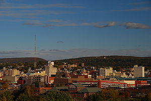 English: Downtown Scranton, PA, on an autumn a...
