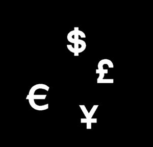 English: Currencies exchange logo Français : L...