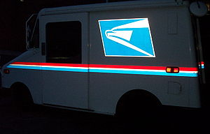 USPS Truck at Night