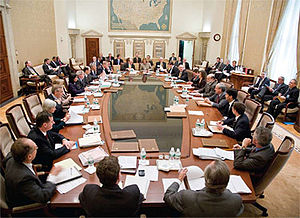 Modern-day meeting of the Federal Open Market ...