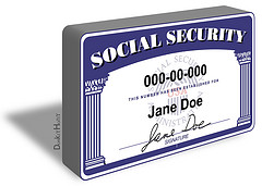 Social Security Card - Illustration
