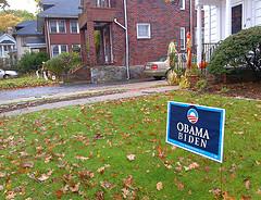 Obama/Biden yard sign