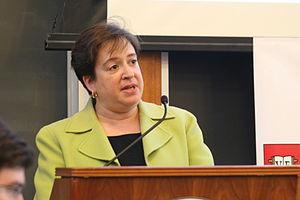 English: Then-Harvard Law School dean Elena Kagan