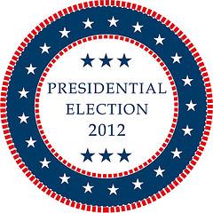 Presidential Election 2012 Vector Sticker