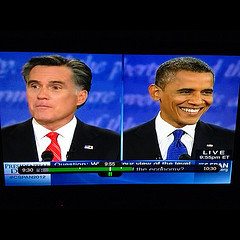 Obama is smiling because Romney will not shut ...