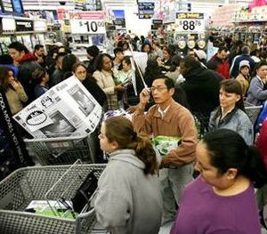 Black Friday shoppers at Walmart