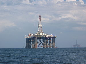 English: Oil Rig, Cromarty, Scotland