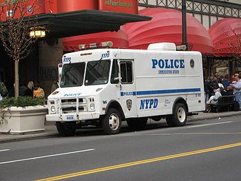 NYPD Communications Division van #4018 at Hera...