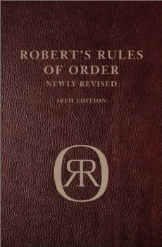 "Cover of ""Robert's Rules Of Order 10th Ed..."