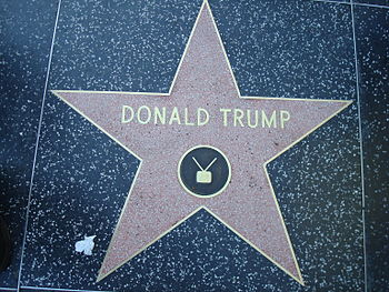 English: This photo depicts Donald Trump's sta...