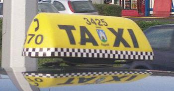 Sign Taxi Zagreb, Croatia