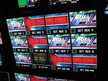 FOX Business Network's control room screen