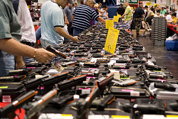 English: Houston Gun show at the George R. Bro...