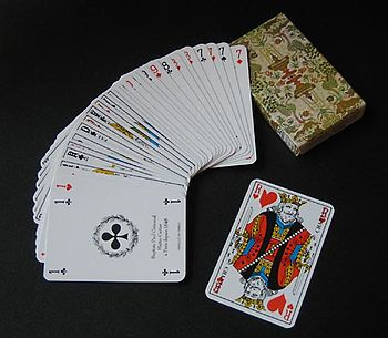 English: Deck of cards used in the game piquet