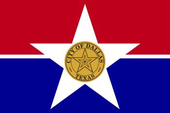 English: Flag of Dallas, Texas Esperanto: Flag...