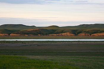 English: Cannonball River, North Dakota