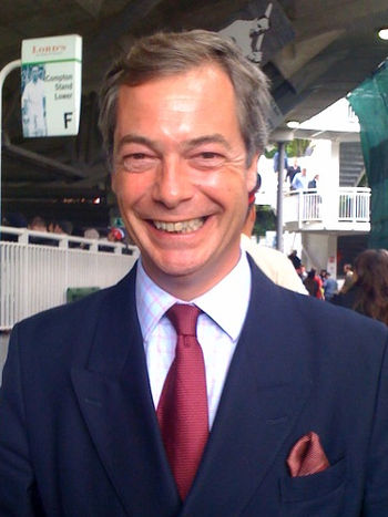 English: Nigel Farage at Lord's cricket ground...