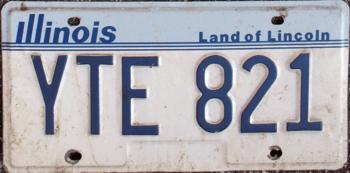 English: 1987 Illinois license plate