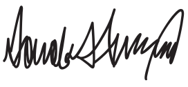 English: Donald Trump's signature.