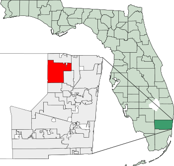 Location within Broward and the state of Florida